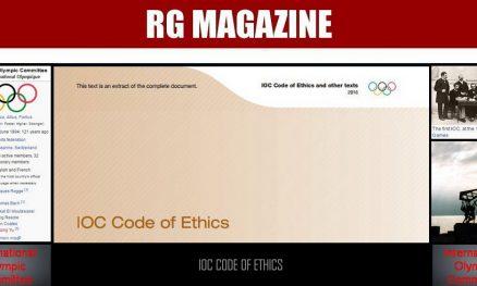 IOC Code of Ethics.....
