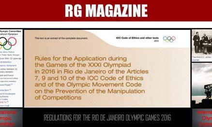 Regulations for the Rio de Janeiro Olympic Games 2016
