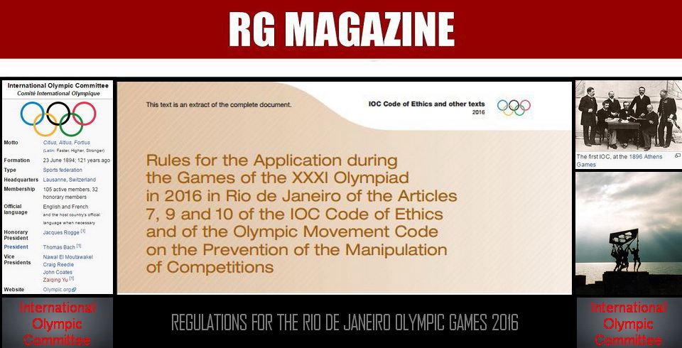Regulations for the Rio de Janeiro Olympic Games 2016
