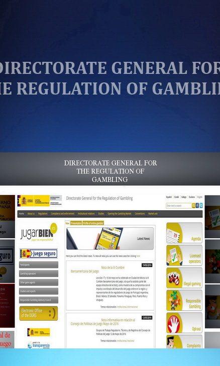 REGULATORS - DIRECTORATE GENERAL FOR THE REGULATION OF GAMBLING