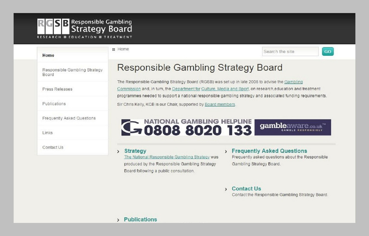 RESPONSIBLE GAMBLING STRATEGY BOARD