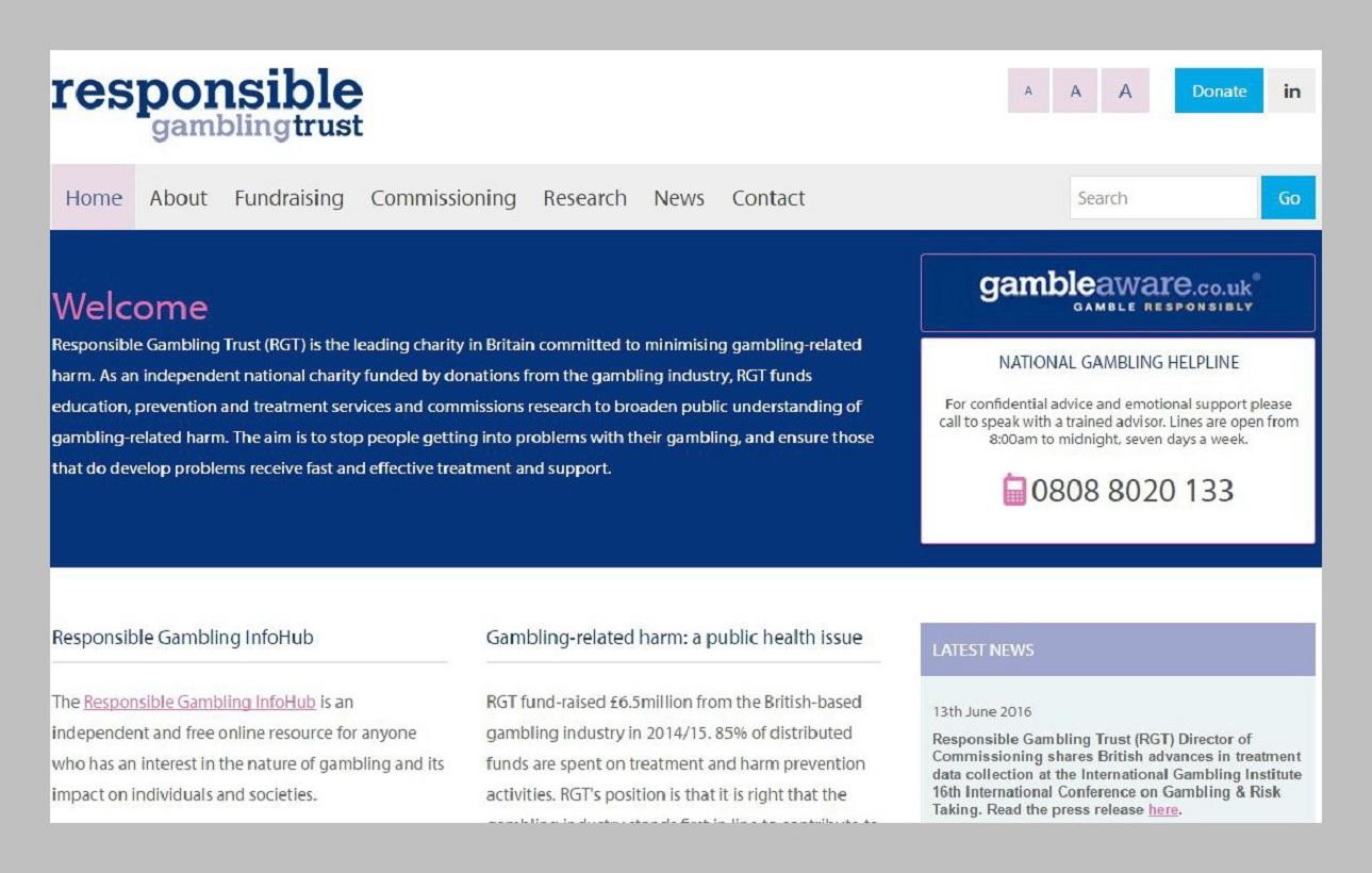 Responsible Gambling Trust...