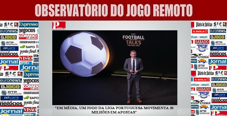 Em média, um jogo da Liga portuguesa movimenta 30 milhões em apostas...