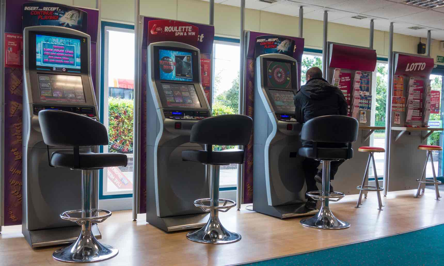 Roulette machines in a bookmakers
