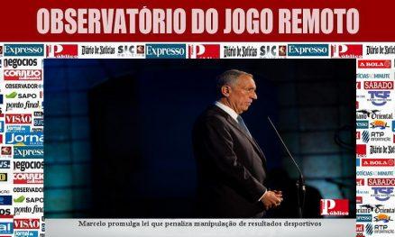 Marcelo promulga lei que penaliza manipulação de resultados desportivos