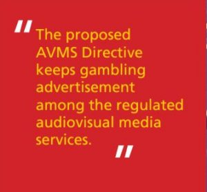 The advertisement of online gambling services 1