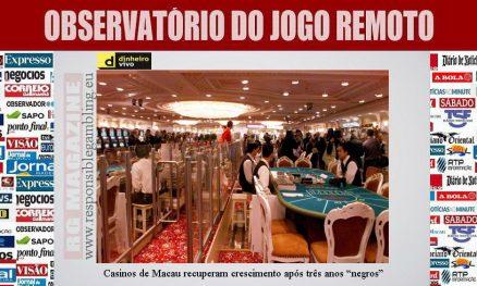 Casinos de Macau recuperam crescimento após três anos negros
