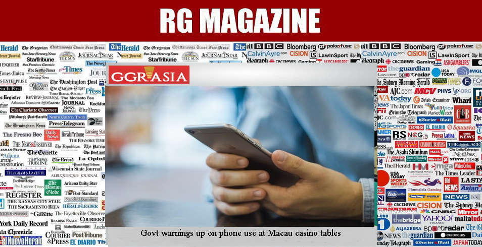 Govt warnings up on phone use at Macau casino tables