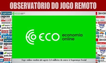 Jogo online rendeu até agora 2,6 milhões de euros à Segurança Social