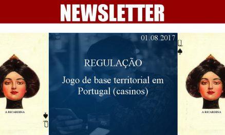 01.08.2017 - Jogo de base territorial em Portugal (casinos)