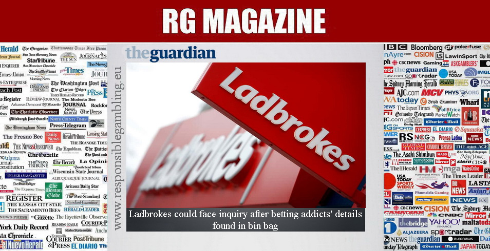 Ladbrokes could face inquiry after betting addicts' details found in bin bag