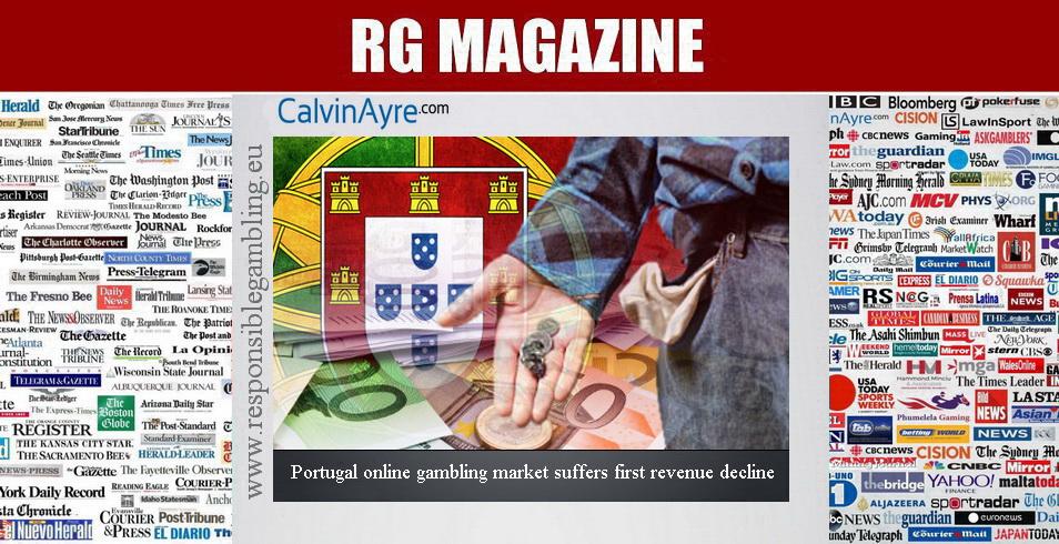 Portugal online gambling market suffers first revenue decline