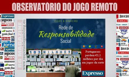 Portugueses perdem €3,1 milhões por dia em jogos da sorte
