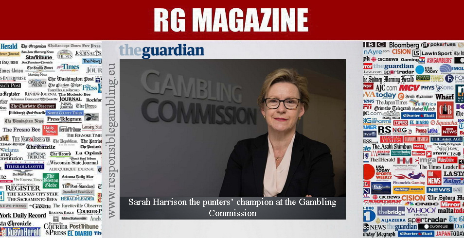 Sarah Harrison the punters' champion at the Gambling Commission