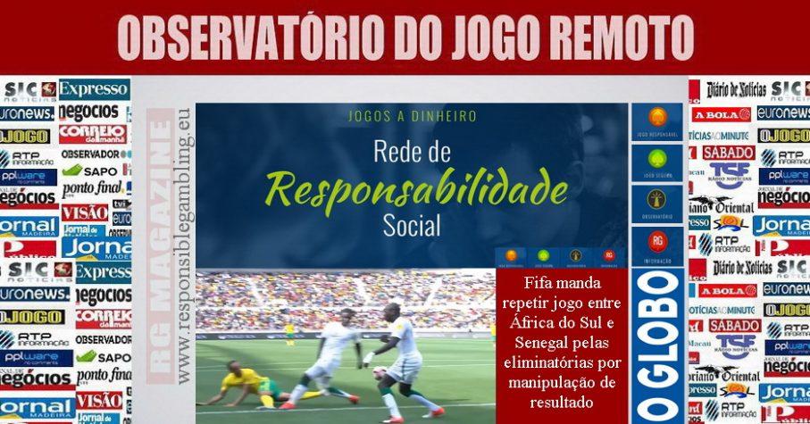 Fifa manda repetir jogo entre África do Sul e Senegal pelas eliminatórias por manipulação de resultado