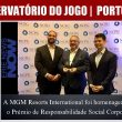 A MGM Resorts International foi homenageada com o Prémio de…