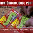 Portugueses apostam 14 milhões de euros por dia