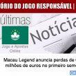 Macau Legend anuncia perdas de 62,14 milhões de euros no…